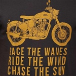 RACE THE WAVES T-SHIRT CHARCOAL GREY